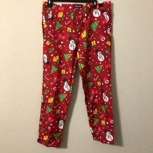 Suitmeister Christmas Pants Red Snowmen  Trees